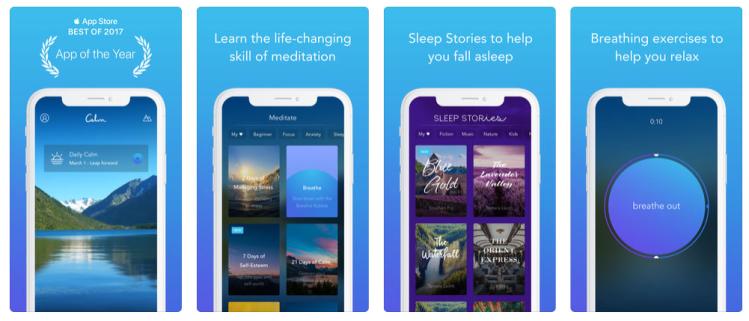 best meditation app - calm 2