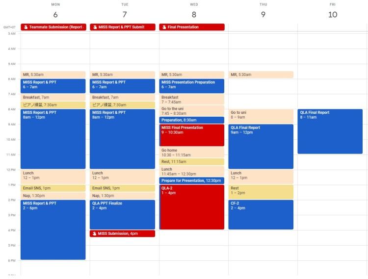 30.06 scheduling